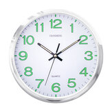 12 Inch Luminous Quartz Wall Clock Glow Round Plastic Hanging Clock Home Office Wall Decoration Creative Furnish
