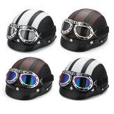Motorrad Roller Halbhelm Hut Offenes Gesicht Schild Visier Mit Sonnenbrille UV