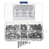 Suleve™ M3SH2 M3 Stainless Steel Hex Socket Button Head Cap Screw Bolts Nuts Assortment 240pcs