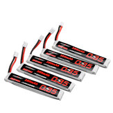 5Pcs URUAV 3.8V 350mAh 50 / 100C 1S Lipo Batterie PH2.0 Stecker für RC Racing Drone