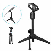 Adjustable Metal Desktop Table Mic Microphone Holder Clamp Clip Holder Stand Tripod