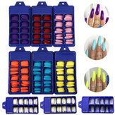 100 Pz / set Copertura completa Matte False Chiodo Suggerimenti Chiodo Art Manicure Matte Tips for False Unghie Estensione per False Unghie
