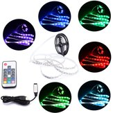 DC5V Non-waterproof USB RGB 5050  LED Strip TV Backlight Kit + 17 Keys Remote Control