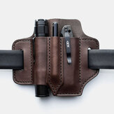 Men Genuine Leather Retro Mini Easy Carry Multitool Organizer Gear Bag Belt Bag Waist Bag With Belt Loop
