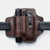 Erkekler Hakiki Deri Retro Mini Kolay Taşıma Çok Amaçlı Alet Düzenleyici Dişli Çanta Kemer Çanta Bel Çanta Kemer Döngü ile