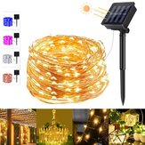 5 kleuren 8 modi 20m 200 LED Solar String Light Koperdraad Fairy Garden Lights String Outdoor Party Kerstvakantie