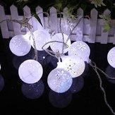 KCASA CSL-7 Jardinería 5M 20LED cadena de luz de la nieve de la bola de fiesta de fiesta de jardín Boda Decoración