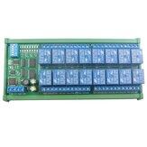 12V 16 Kanal DIN Ray RS485 Röle Modbus RTU Protokolü Uzakdan Kumanda PLC Genişletme Kartı