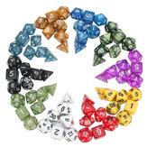 70 stuks veelvlakkige dobbelstenen bordspel dobbelstenen set 10 kleuren 4D 6D 8D 10D 12D 20D met 10 zakken