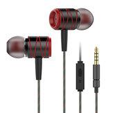Металлический 3,5 мм проводной контроль в ухе Тяжелый бас Наушник Наушники с микрофоном для iPhone Samsung Xiaomi