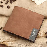 Men's PU Soft Wallet Bifold Minimalist Money Clip Card Case