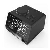 DualUnitsWirelessBluetoothДинамикBass LED Дисплей Тревога Часы FM Радио U Дисковый динамик с микрофоном