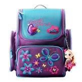 18LGirlsKidsCartoonШколаСумка Светоотражающая безопасность Водонепроницаемы Детский рюкзак с Кукла Кулон