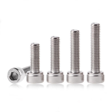 Suleve™ M3SH10 50Pcs M3 304 Stainless Steel 10-20mm Hex Socket Cap Head Screw Bolts Nut Optional Length