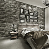3D Effect Slate Brick Wall Decal Sticker Faux Self-adhesive Wallpaper TV Wall Decor Sticke