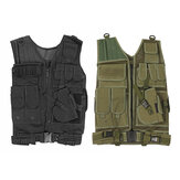 Gilet tactique militaire Plaque de transport Holster de combat Police Molle Assault Vest