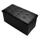 PU Leather Storage Stool Multifunctional Sofa Ottoman Footrest Storage Bench Box Seat Footstool Square Chair Home Office Furniture