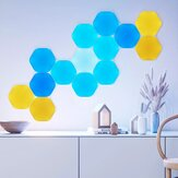 أشكال Nanoleaf 5 Pack Hexagons وايفاي ذكي LED ضوء Kit DIY Night Lamp لمس Voice التطبيق مراقبة 16 Million اللون متوافق with Homekit Alexa Google Home (Ecological Chain علامة تجارية)