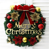 Christmas Holiday Wreath Door Ornament Dekoracja Garland Christmas Bell