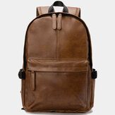 Vintage PU Leather Backpack School College Bookbag Plecak na laptopa Plecak na laptopa