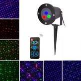 Mini Natal ao ar livre RGB Dynamic Laser Projetor Stage Party Light Lawn Garden Decor