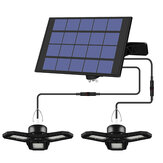 Luz de garaje de energía solar deformable al aire libre Tienda de cobertizo de techo para jardín interior Lámpara