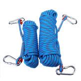 10mm 10 / 20M Corda professionale per arrampicata su roccia Corda per escursionismo all'aperto Corda per imbracatura di sicurezza ad alta resistenza Strumento per corde in corda doppia