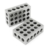 Machifit 2pcs 1x2x3 Inch Blocks 23 Holes Parallel Clamping Milling Tool Precision 0.0001 Inch