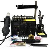 SAIKE 852D++ 110V/220V 2 In 1 SMD Rework Station Hot Air Nozzle Soldering Station Desoldering Station