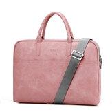 PU Leder Business Aktentasche Laptoptasche Handtasche Schultern Aufbewahrungstasche mit Power Pack Tasche für 15,6 17,3-Zoll-Notebook