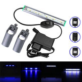 20 cm 18 LED Balık Tankı Akvaryum Işık Beyaz Mavi Lamba Su Geçirmez Bar AC110-240V üzerinde Klip