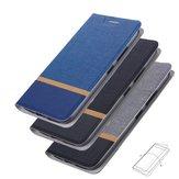 Bakeey Flip Stand Stalowa warstwa Płótno Wzór PU Skóra Pełna obudowa ochronna do ASUS Zenfone Max (M1) / ZB555KL