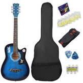 38 Inch 6 Strings Acoustic Guitar Wooden Guitar For Beginners With Guitar Bag/Pick/Strap/Pipe