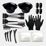 22 Pcs Hair Coloring Tool Set Comb Brush Disposable Shower Cap Latex Gloves Hairdressing Tools
