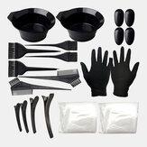 22 Stück Haarfärbemittel-Set Kammbürste Einweg-Duschhaube Latex Handschuhe Friseurwerkzeuge
