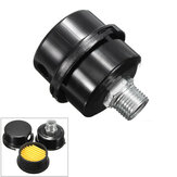 MPT1/2Inch 20mm Thread Dia Black Metal Air Compressor Intake Filter Noise Muffler Silencer