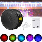 USB LED Yıldız Projektör Gece Işığı 6 Renk Okyanus Dalgası Gökada Projeksiyonu Lamba
