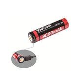 Weltool UB18-35 1 stk 3500mAh USB genopladeligt 18650 batteri til lommelygte elektrisk cykel