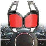 Car Gear Shift Stalen Ring Wiel Uitbreiding Paddle voor Audi A1 A3 A4 A6 A7 A8 Q5 Q7