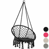 Coton Hamac Siège Chaise Suspendue Tassel Deluxe Swing Chair Max Load 120kg Outdoor Indoor Patio Garden