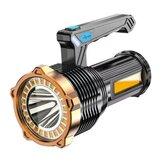 XANES® 1200LM 500M LED + torcia portatile COB Type-C USB ricaricabile tripla sorgente luminosa LED Searchlight Proiettore impermeabile Faro potente