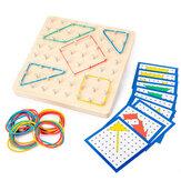 Puzzle di geometria didattica tradizionale Montessori Modello Gioco educativo per casa da casa Giocattolo per regalo per bambini