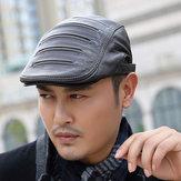 L / XL / 2XL Cerniera Decorazione Inverno Primo strato Cappello berretto regolabile in pelle di pecora Cappellini da strillone regolabili