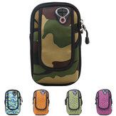 Outdoor pacote de telefone corrida saco braço esporte braço de telefonia móvel a impressão bolsa de camuflagem
