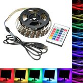 1M 2M 3M 4M USB 5V 5050 60SMD / M RGB LED Kit backlilghting TV luce striscia + 24Key remoto Control