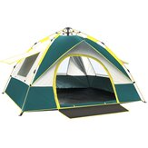 2-4 Person Fully Automatic Pop Up Tent Camping Travel Family Tent Rainproof Windproof Sunshade Awning