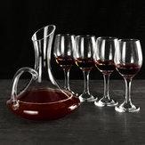 1700 ML Decanter De Cristal De Vidro e 4 Copos Elegante Pourer Carafe Garrafa de Mesa de Presente Sem Chumbo Aerador