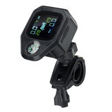 Motorfiets LCD-scherm Waterdicht TPMS Real Tijd Bandenspanningscontrolesysteem Externe TH-sensoren