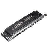 Easttop T16-64K Professionnel 16 Trous 64 Tons Harmonica Chromatique Bouche Orgue Blues Harpe Avec Sac En Toile