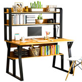 Computer Desk Table Household Student Study Table Modern Bedroom Writing Desk Storage Table with Bookshelf